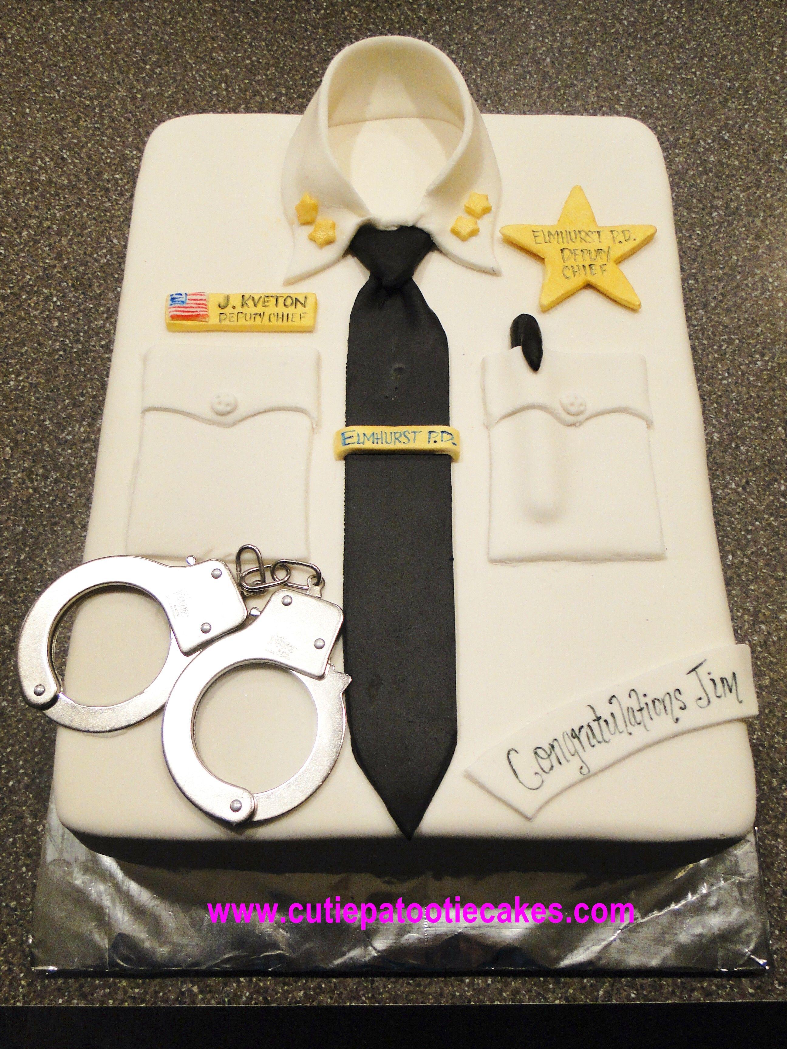 Police Shirt Cake Cakes Cupcakes And More Shirt Cake