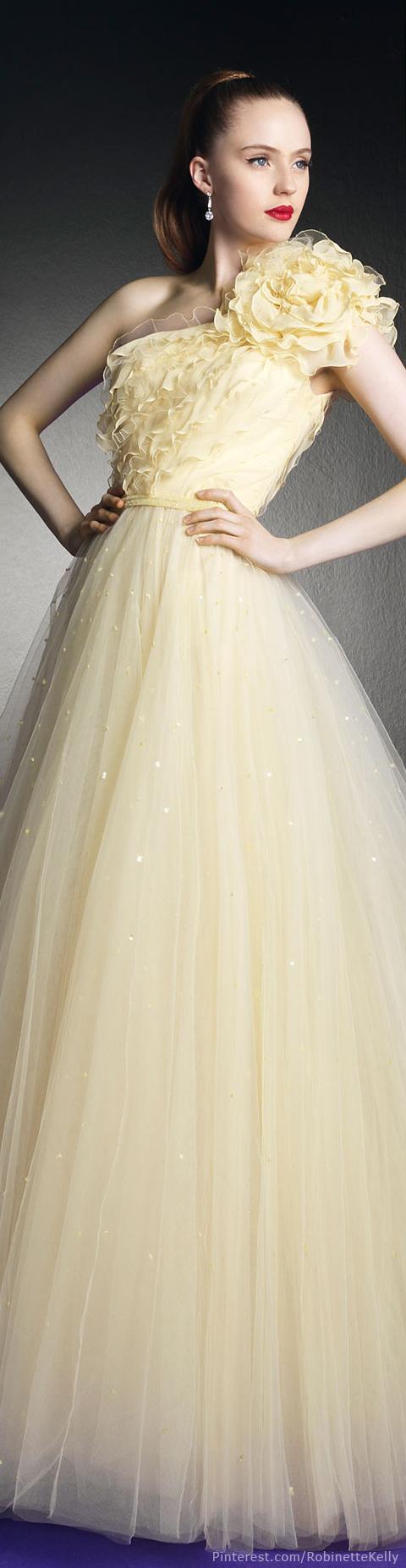 Zuhair murad for rosa clará yellow wedding dress all