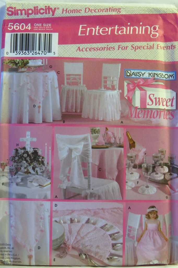 Simplicity 5604 table top accessories wedding and special occasion simplicity 5604 table top accessories wedding and special occasion junglespirit Images