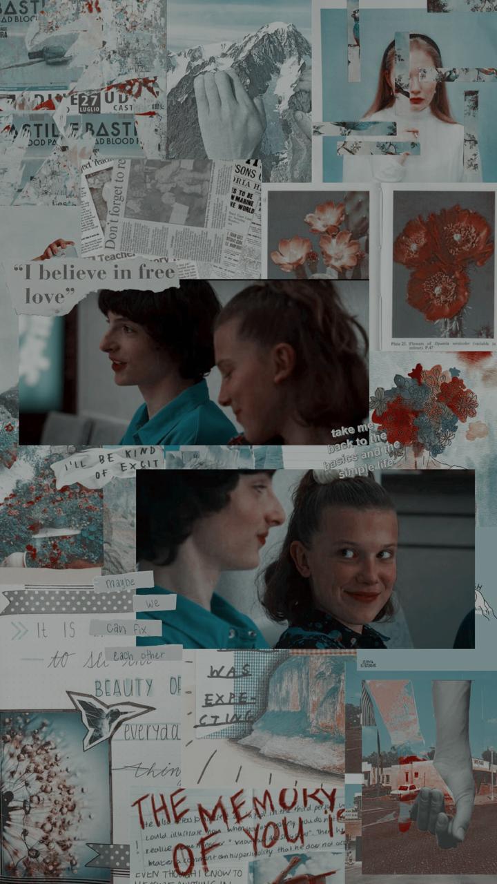 stranger things 3 collage lockscreens {screenshot for