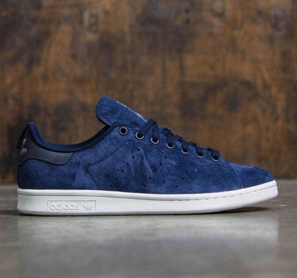 sports shoes 4e658 9caaa ADIDAS ORIGINALS STAN SMITH NAVY SUEDE REFLECTIVE HEEL S80027 SZ US M 8 UK  7.5  adidas  AthleticSneakers
