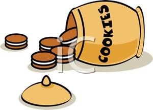 Image detail for -... of clip art illustration of cookies spilled out of a cookie jar