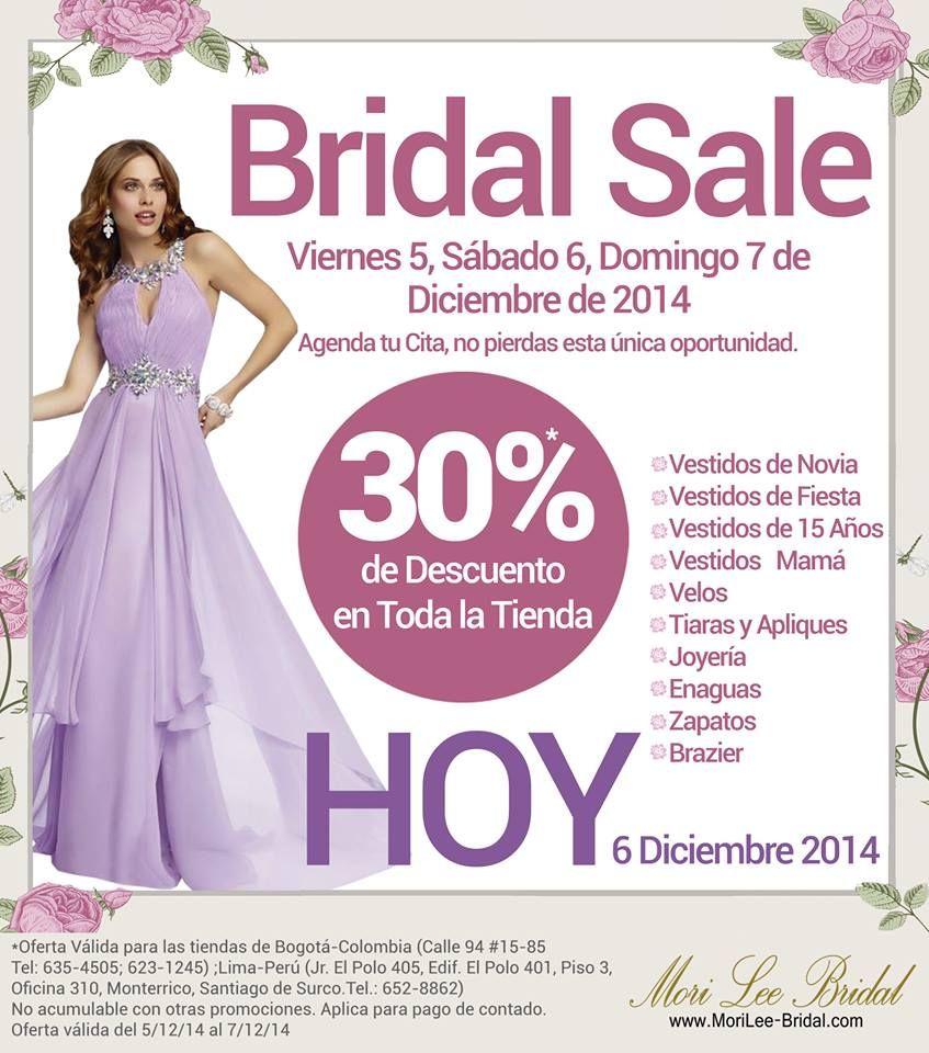 Hoy es día de Bridal Sale, 30% de descuento en toda la tienda. ¡No ...