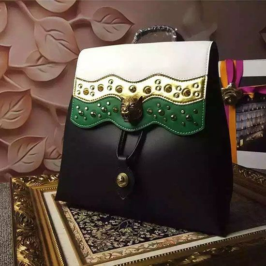 8c1023db78b Gucci Leather Studded Backpack Black 432266