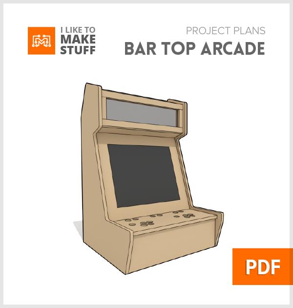 Bar Top Arcade Digital Plans Arcade Cabinet Plans Arcade