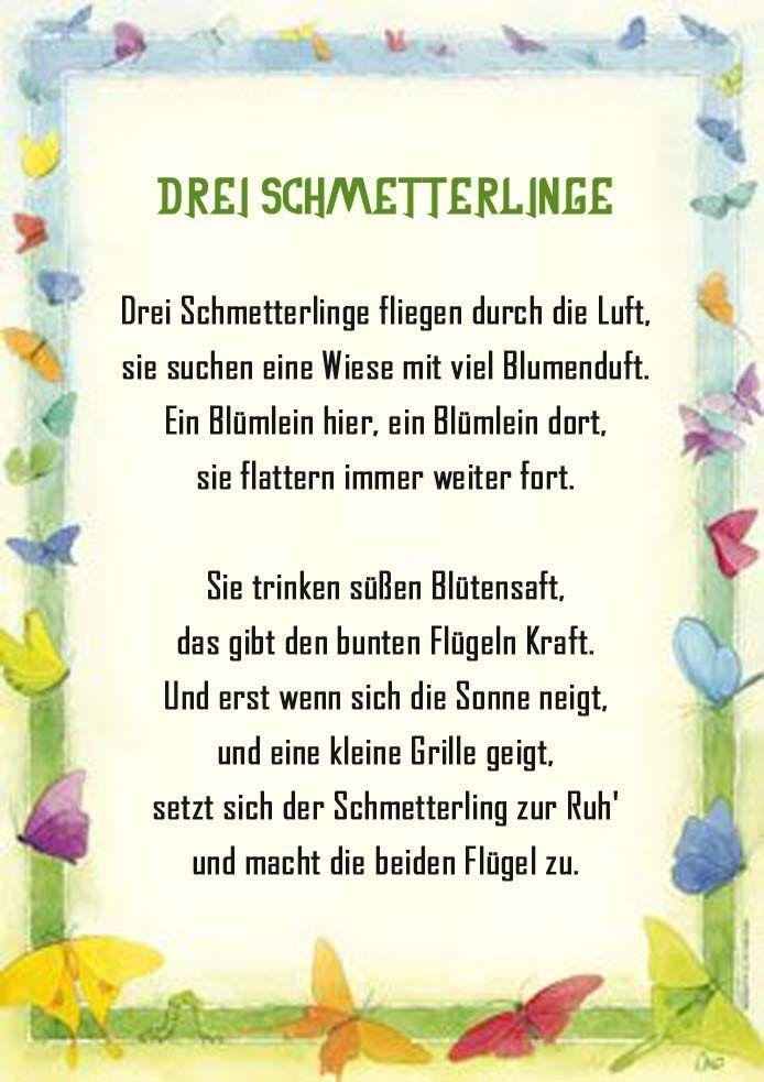 Photo of Schmetterling Gedicht Kindergarten Erzieherin Kita Kinder Erziehung Sommer Reim