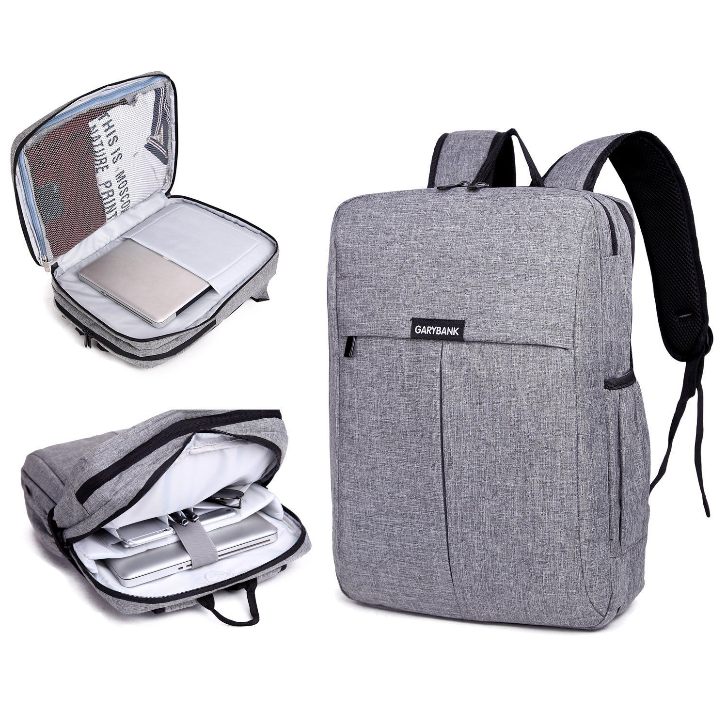 0f5c1322c02 Amazon.com  Garybank Waterproof Laptop Backpack For Women Men Both Top  Loader and Panel Loader Slim Business Backpack Good For College School  Travel ...