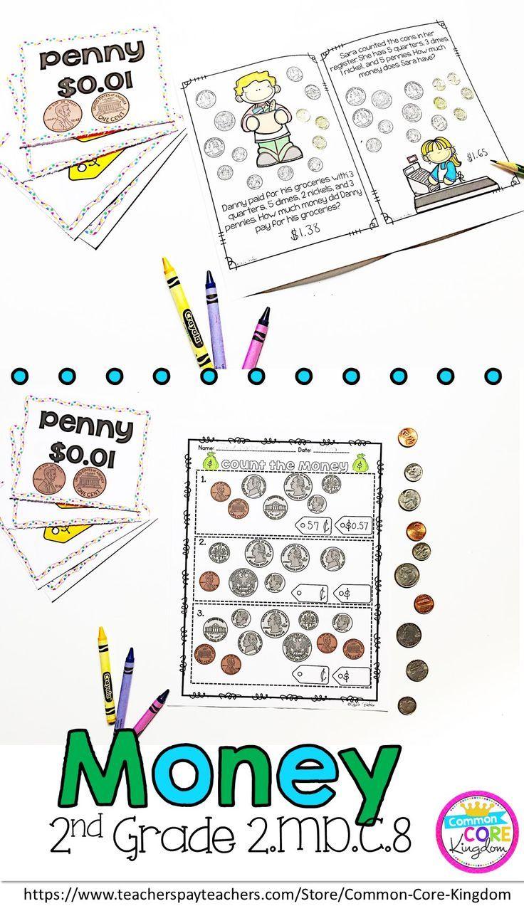 Money Second Grade Common Core 2.MD.C.8 2nd grade math
