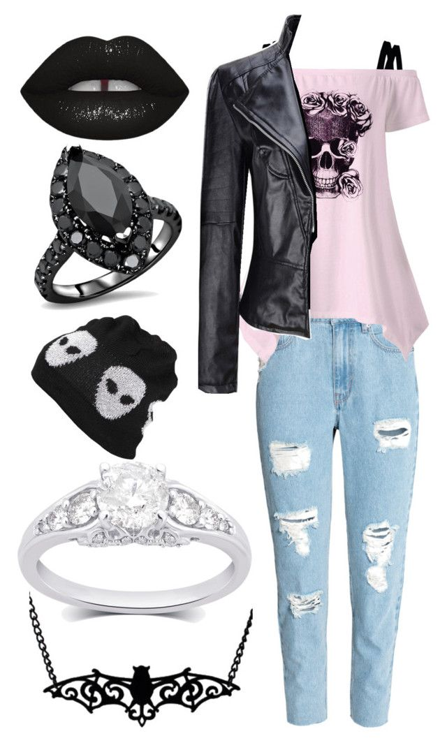 """""""A Favor For A Friend"""" by headphones-girl ❤ liked on Polyvore featuring WithChic, Lime Crime and Evil Twin"""