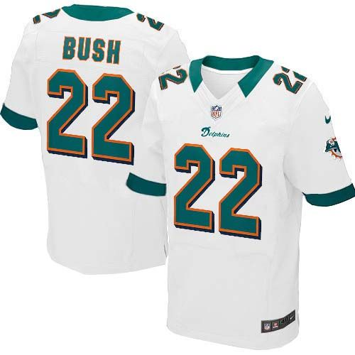 Reggie Bush Nike Elite Jersey – Authentic Dolphins #22 Aqua White ...