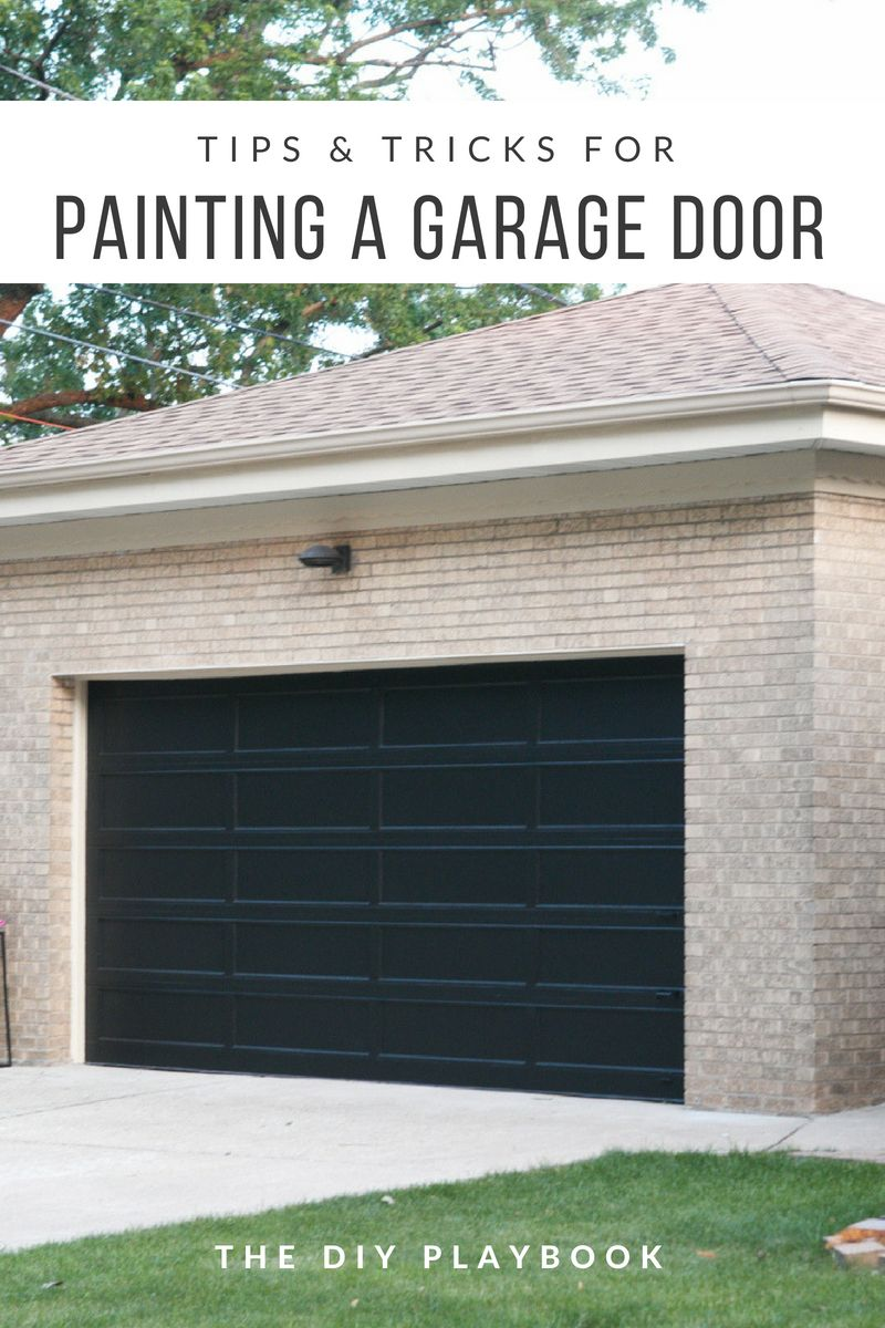 Step by step tutorial how to paint a garage door paint garage how to paint a garage door this garage went from brown to a fresh coat solutioingenieria Gallery