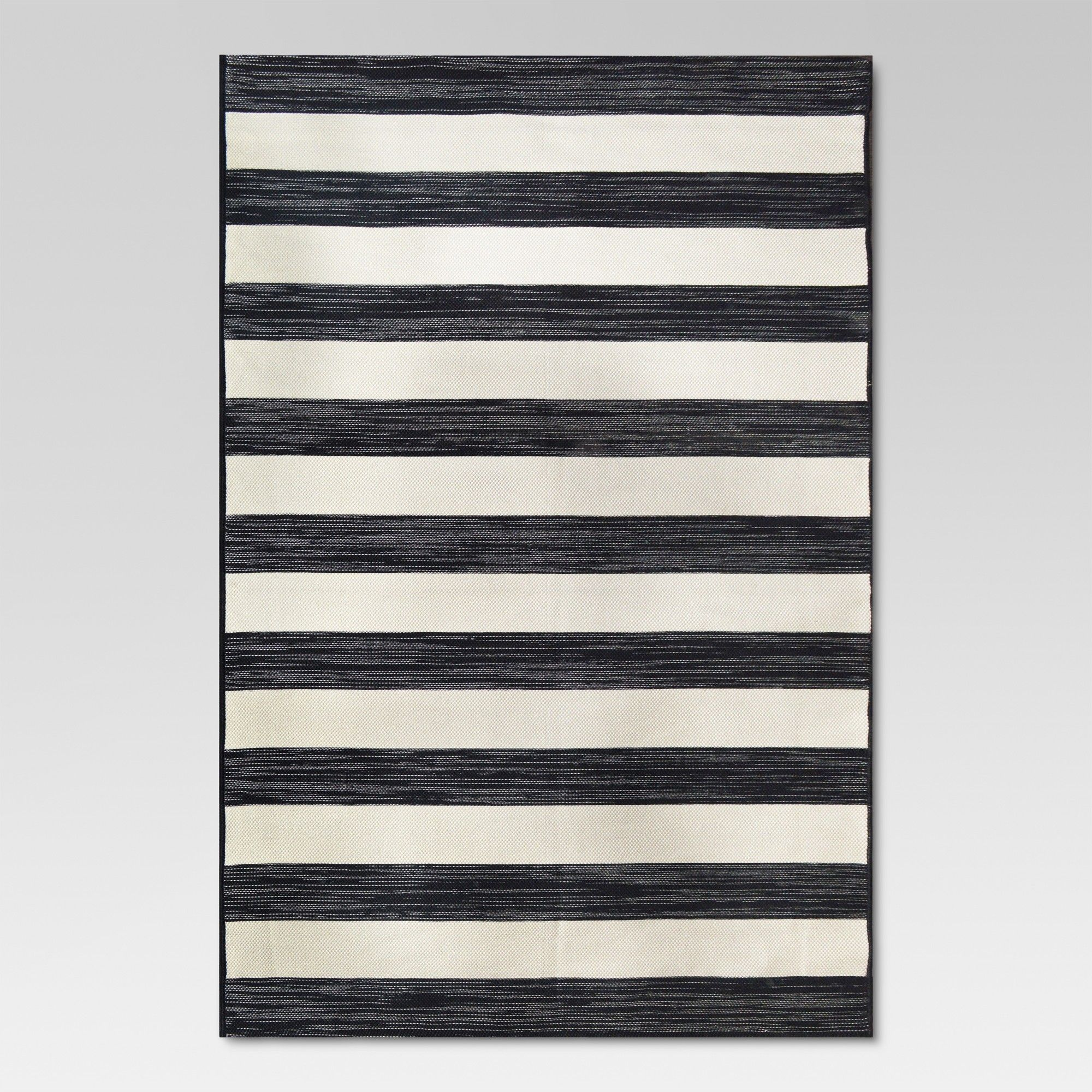 5 X7 Outdoor Rug Worn Stripe Black Threshold Outdoor Rugs