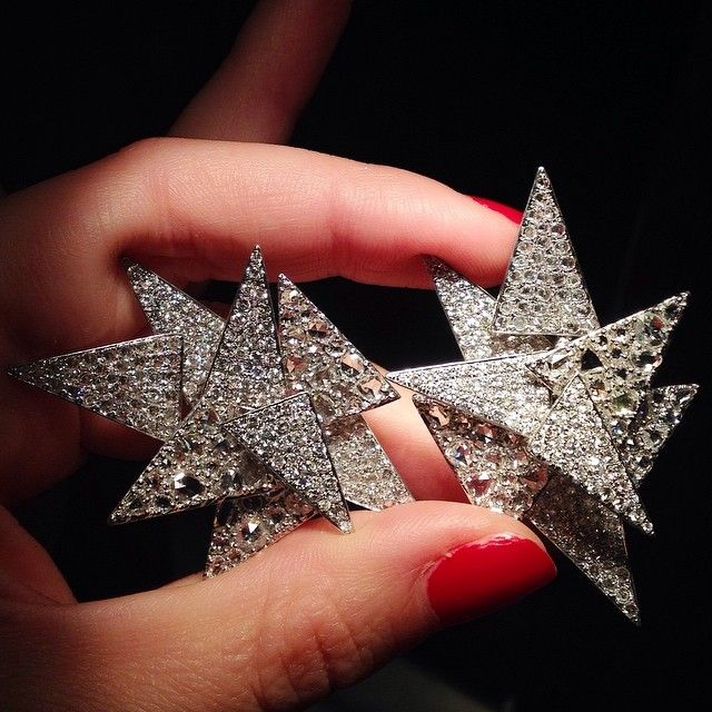 As seen on @bergdorfs instagram: insane diamond Lorraine Schwartz earrings. For details 212 872 8744