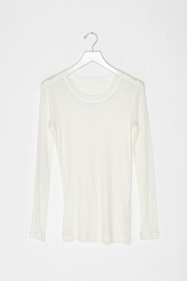 Silk Wool Blend Knit Shirt