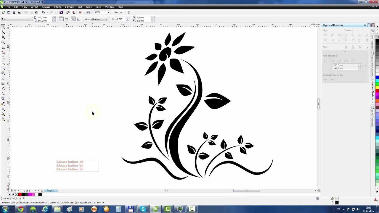 Coreldraw Tutorial Draw A Flower Tattoo Corel Draw Tutorial Embroidery Software Free Embroidery Software