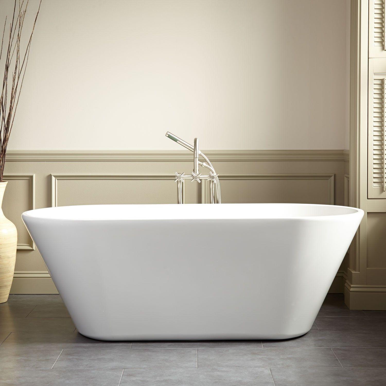 Danae Acrylic Freestanding Tub - Freestanding Tubs - Bathtubs - Bathroom | Free  standing bath tub, Free standing tub, Freestanding bathtub faucet