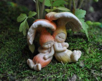 Dormir beb s hada seta jard n miniaturas hadas jard n for Jardin de setas