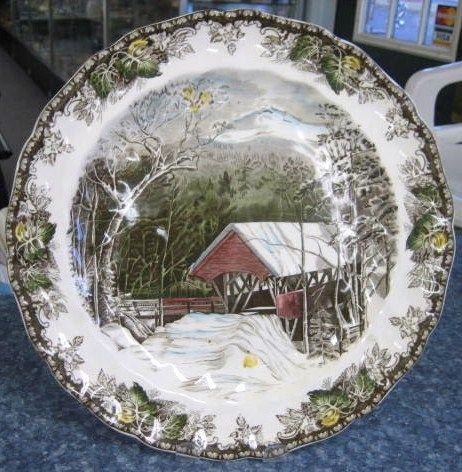 Friendly Village 12 Inch Chop Plate Johnson Bros