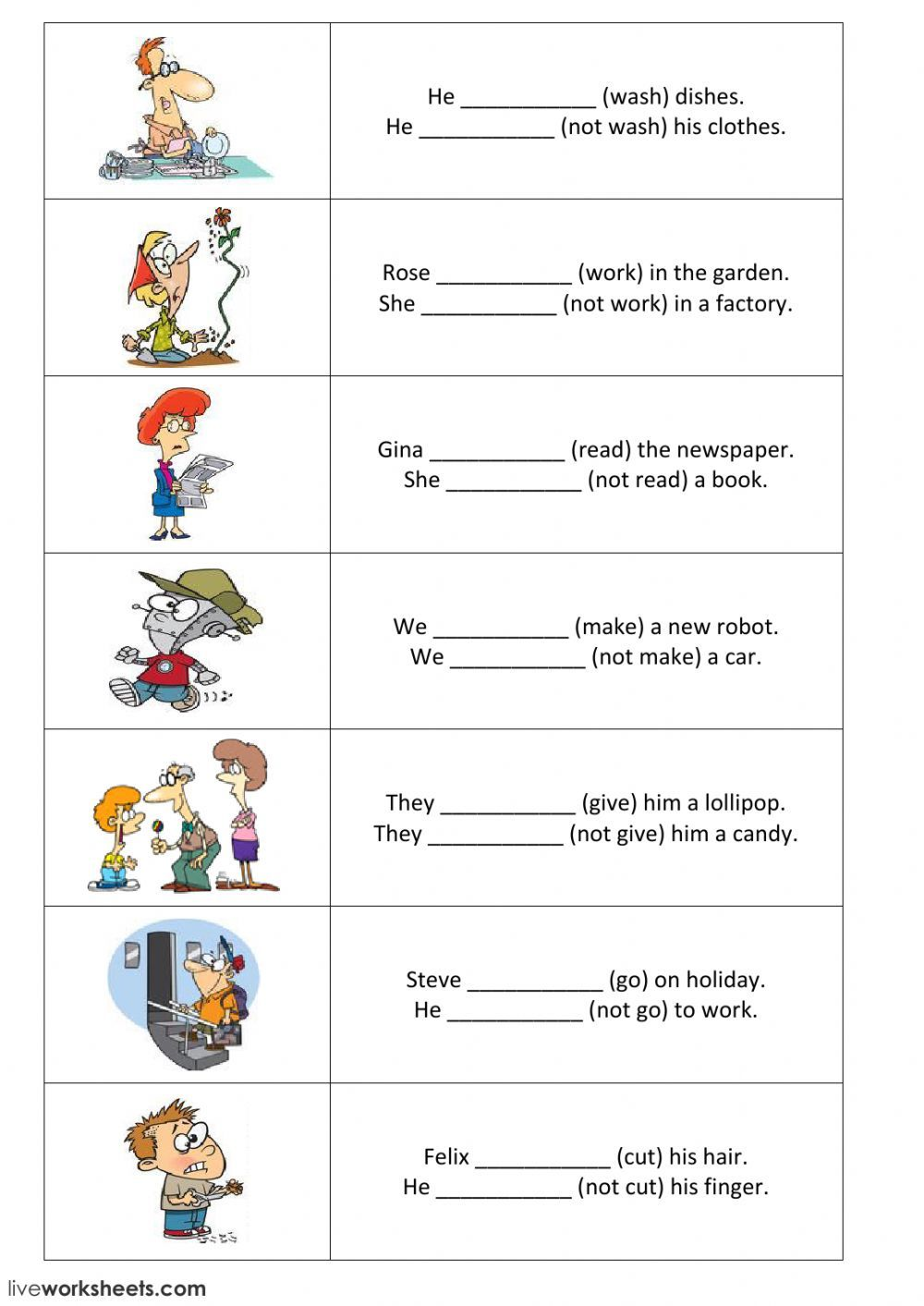 Present Simple interactive and downloadable worksheet. You