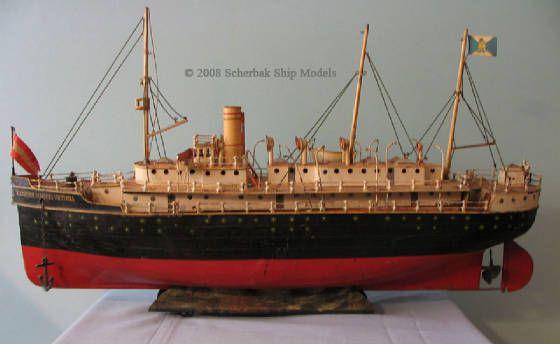 """Gerbruder MARKLIN ( MÄRKLIN ) 29"""" tin toy boat ocean liner, c. 1910, Kaiserin Augusta Victoria"""