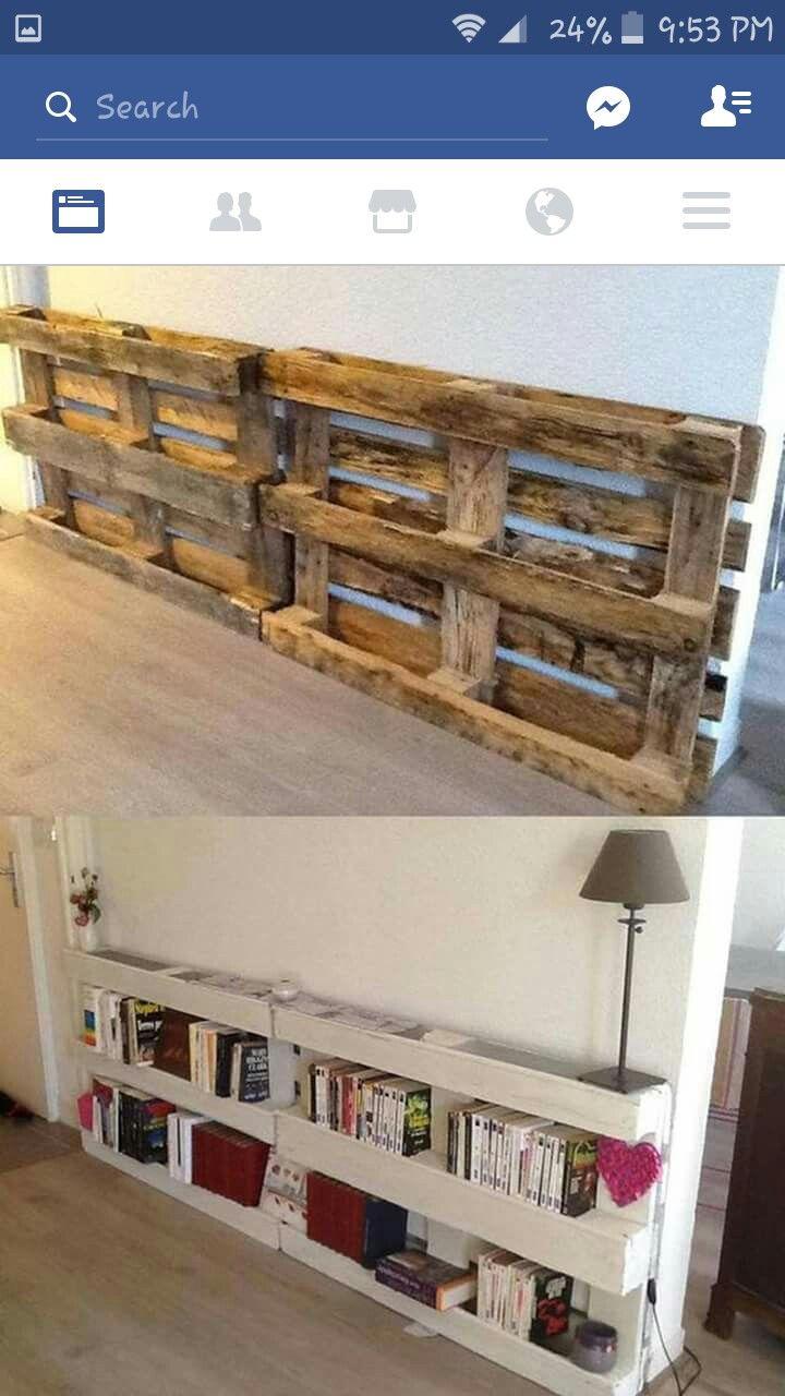 Diy Pallet, Pallet Projects, Pallet Ideas, Diy Projects For Bedroom, Pallet  Bookshelves, Pallet Walls, Wooden Pallets, New Ideas, Hallway Closet