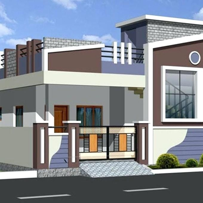 Latest Indian Single Storey House Elevation Designs Latest Top Single Floor Home Elev Small House Front Design Village House Design Small House Design Exterior Small house design for india