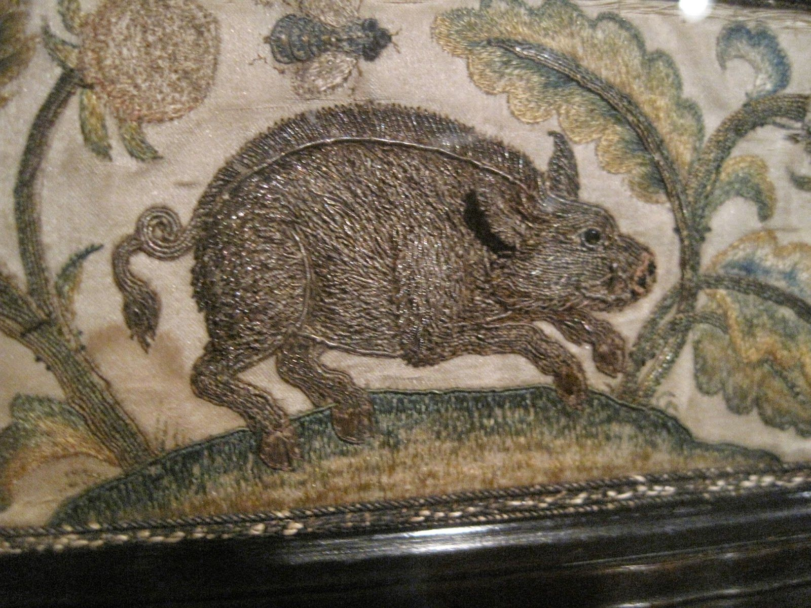 Stumpwork and th century embroidery generally being my favourite
