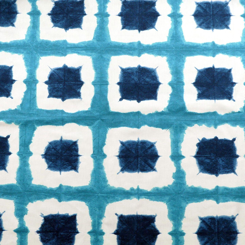 Tissu au m tre imprim bleu tissus ameublement par - Tissu ameublement art deco ...