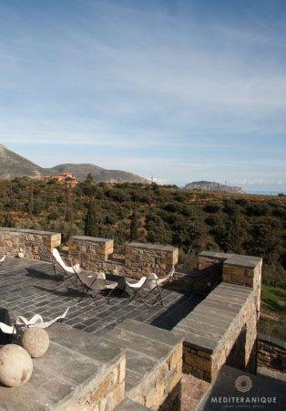 Kinsterna Hotel Spa Looking Onto The Rock Of Monemvasia Peloponnese Greece