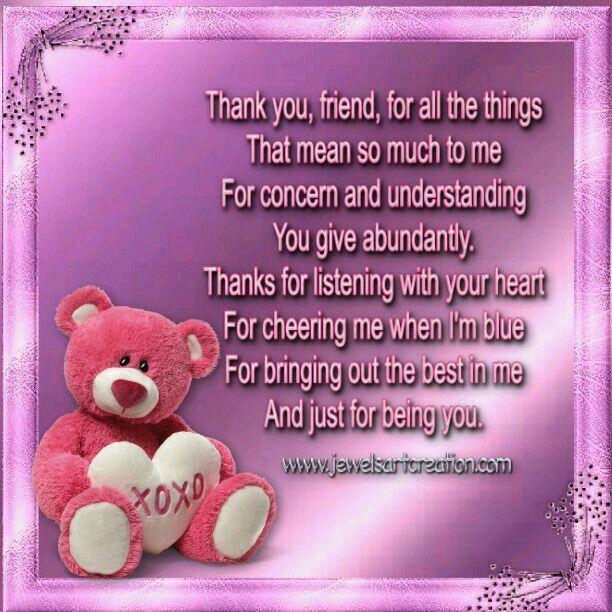 Friendship Thank You My Sweet Pamela Love You Mit Bildern