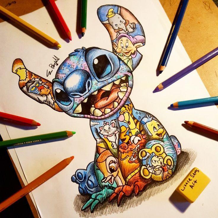 Stitch Design!! #littlesamsart #art #disney #disneycharacters