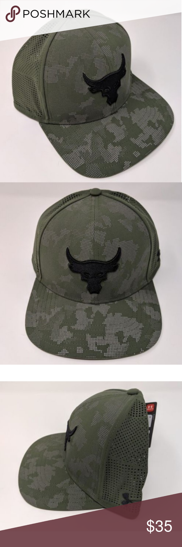 6751dd9d Under Armour UA X Project Rock Snapback Cap Hat Under Armour UA X Project  Rock Mesh Back SuperVent Mens Snapback Cap Flat Hat Under Armour  Accessories Hats