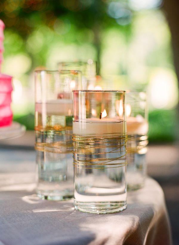Napa Valley Wedding by Lisa Lefkowitz Centros de mesa, Boda civil - centros de mesa para boda con velas flotantes