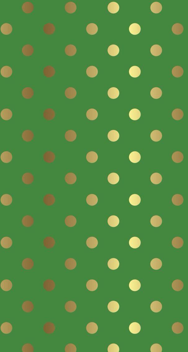 Gold Spots On Green Polka Dots Simply Spotty Polka Dots Wallpaper Gold Polka Dot Wallpaper Dots Wallpaper