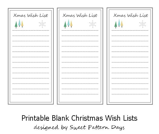 Blank Christmas Wish List Printable | Holiday | Pinterest