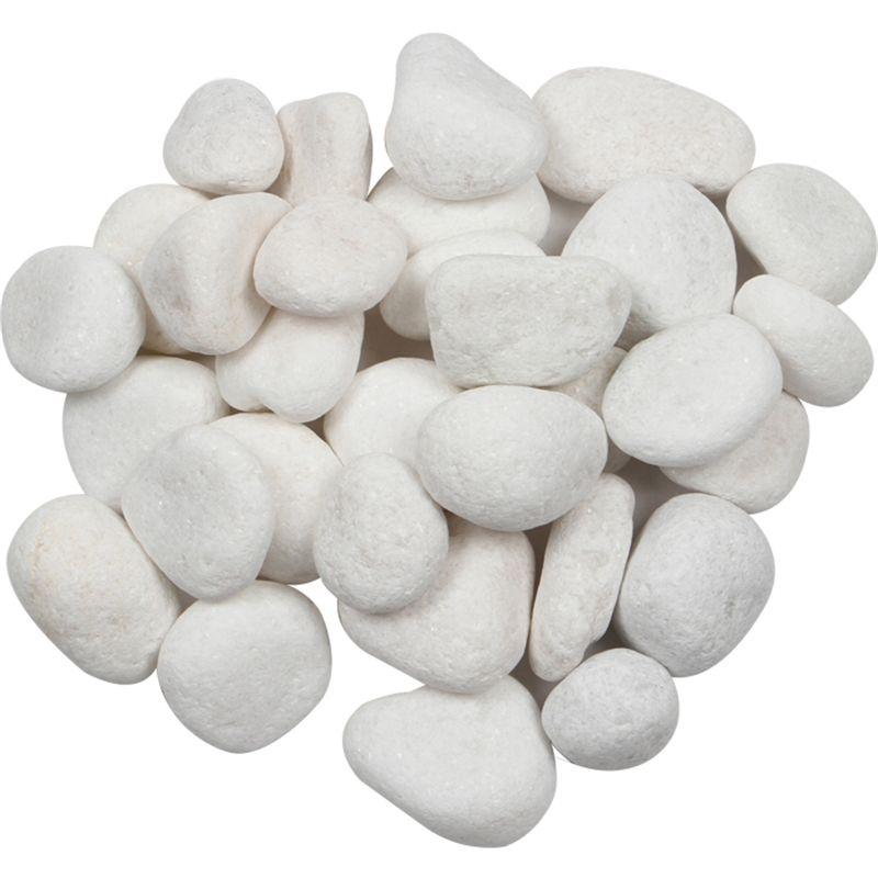 40mm Snow White Quartz Pebbles, White Garden Rocks Bunnings