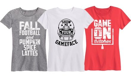 c95c6f951b742 Women's Football Tees (Also Available in Plus Sizes) Was: $36 Now: $14.99.