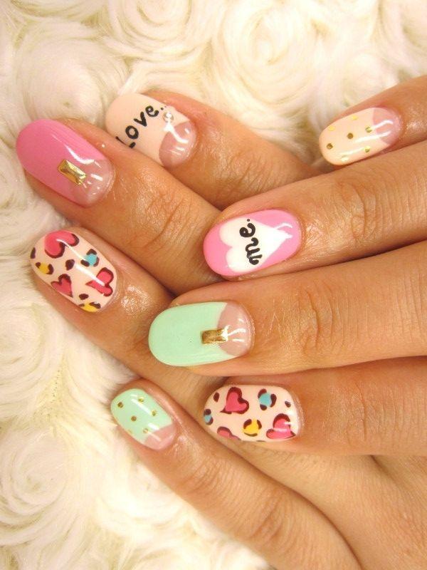 Multi Color Nail Art Ideas For Summer 2012 Nails Pinterest