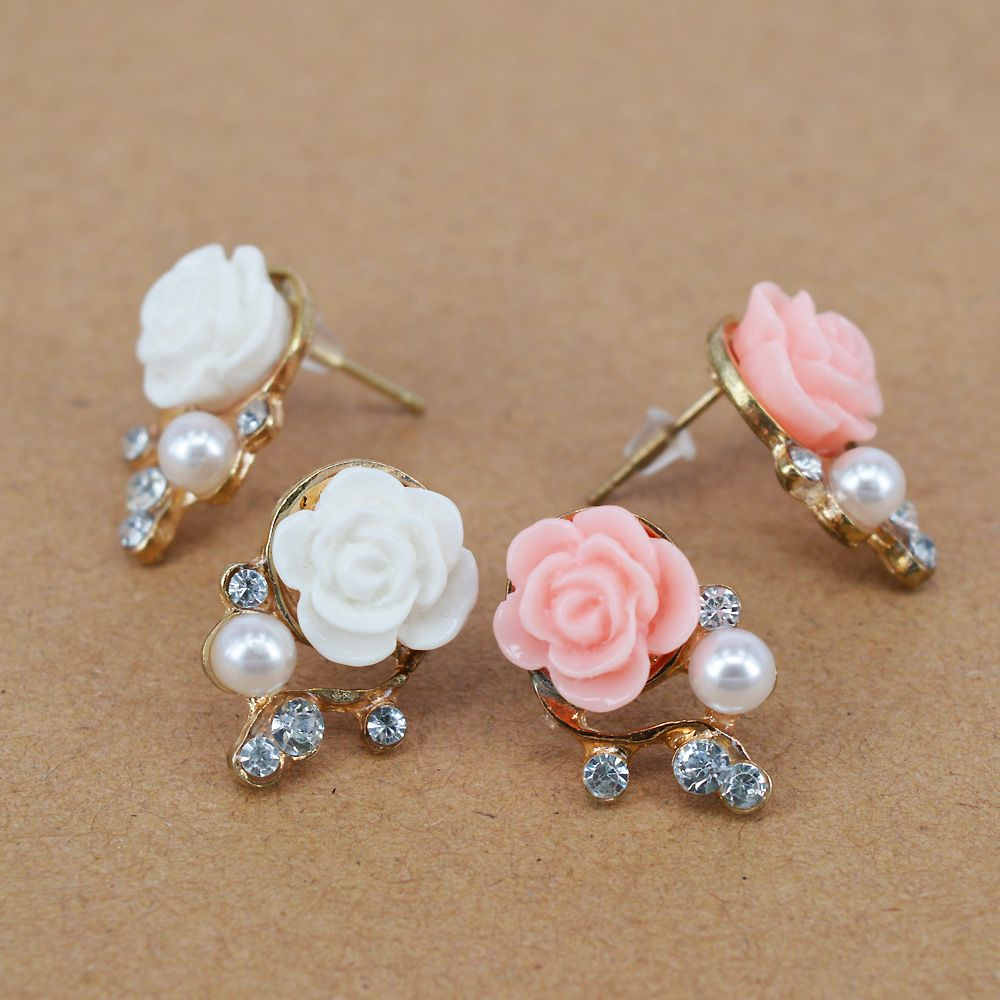 Korean Fashion Jewelry Exaggerated Earrings New Style Women Ol ...
