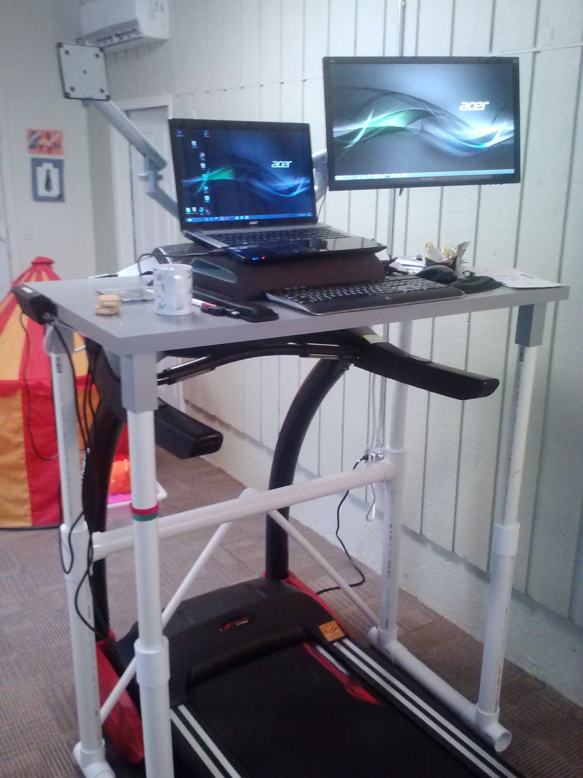 Superior DIY PVC IKEA Treadmill Desk Check Out The Latest Version Built This Treadmill  Desk For About A Hundred Bucks.