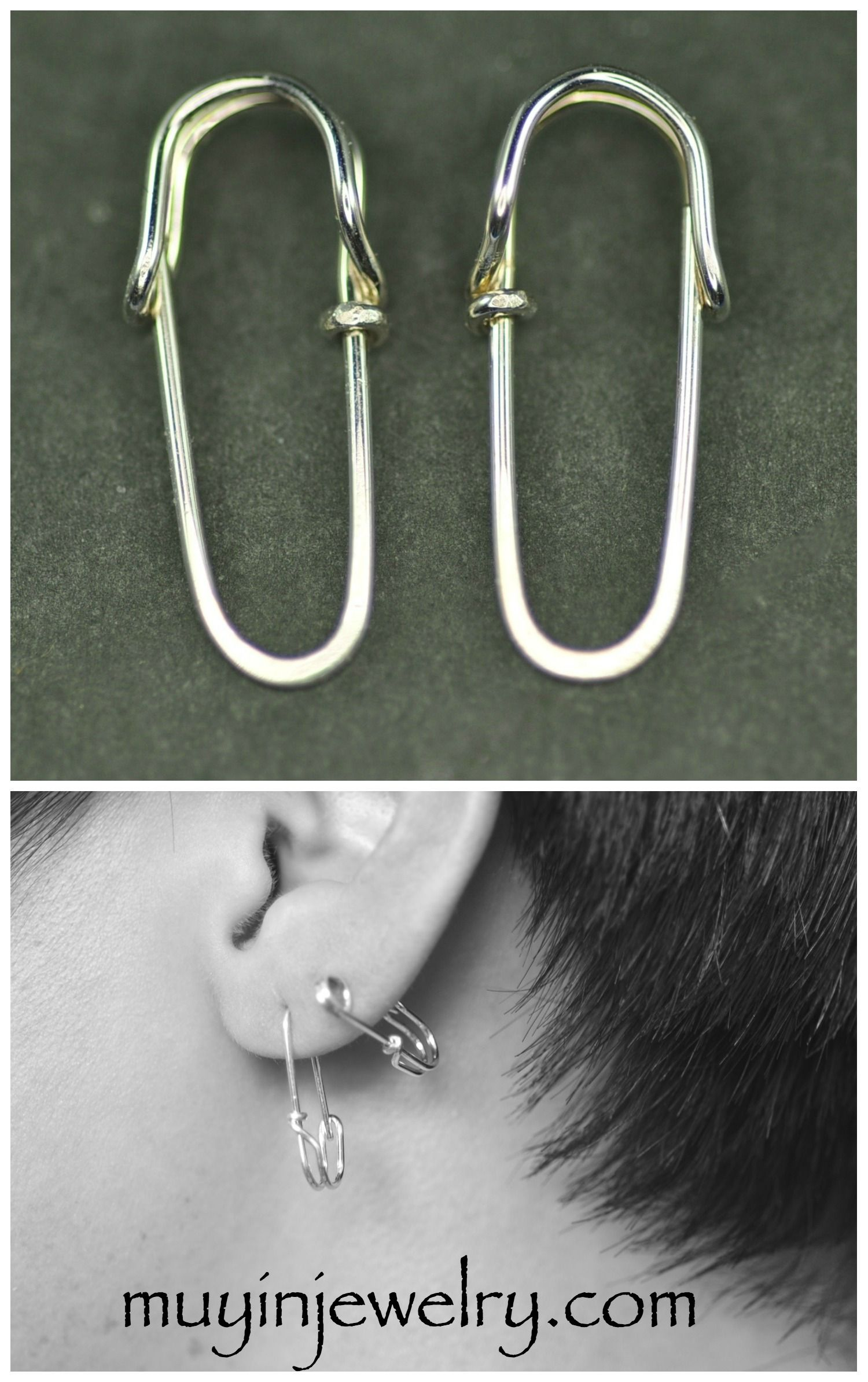 Super Cute Safety Pin Earrings