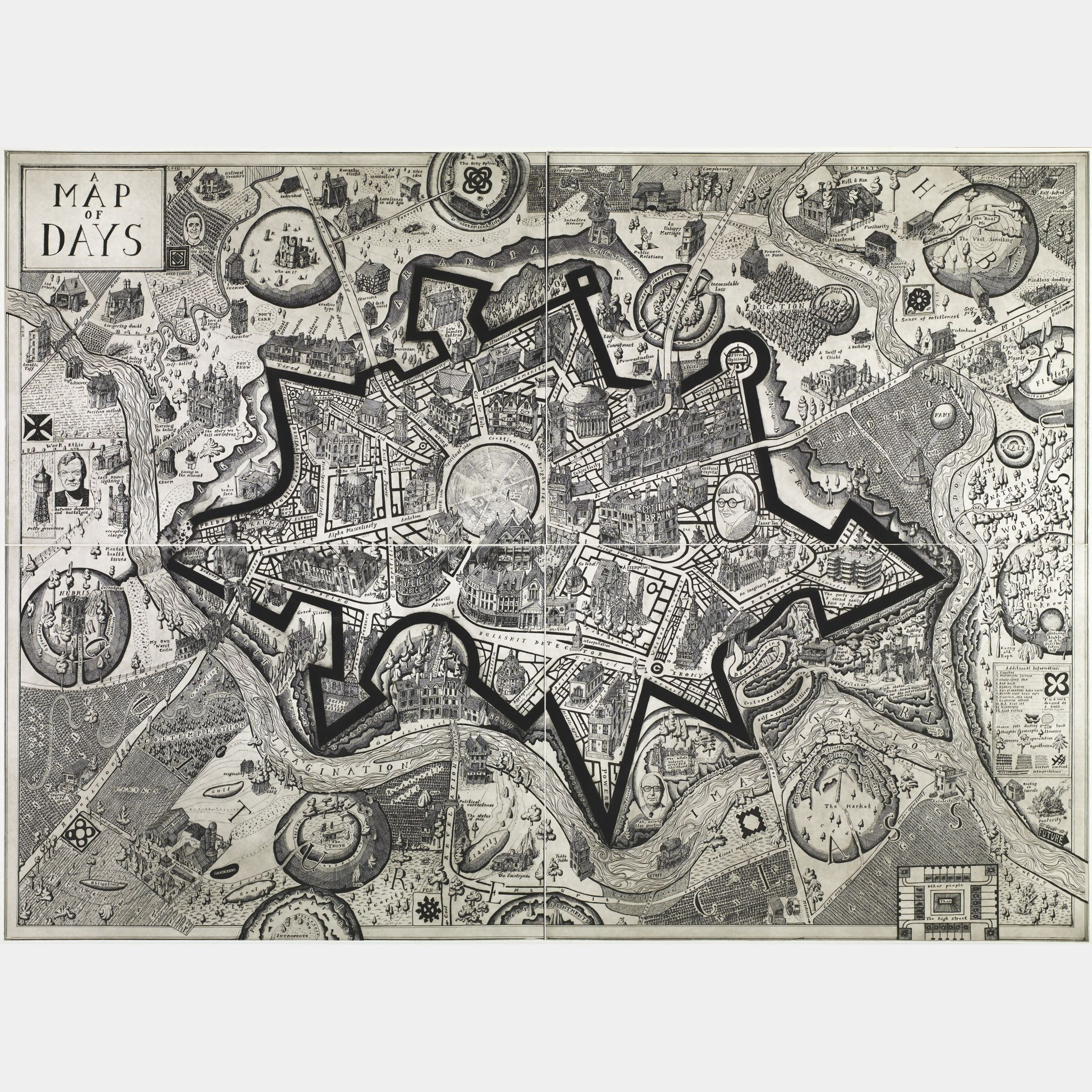 """A Map of Days"" by Grayson Perry (2013)."