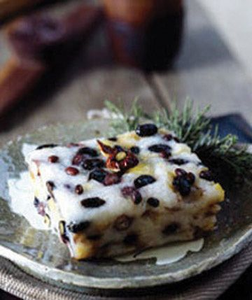 Korean rice cake. A sweet not so sweet dessert with a mix ...