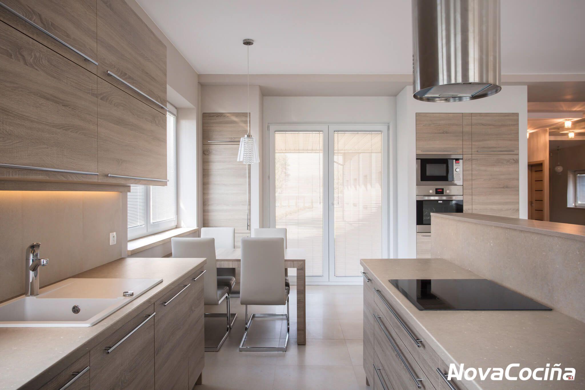 Cocina Con Encimera Coral Clay De Silestone Kitchen Design Kitchen Countertops Diy Countertops
