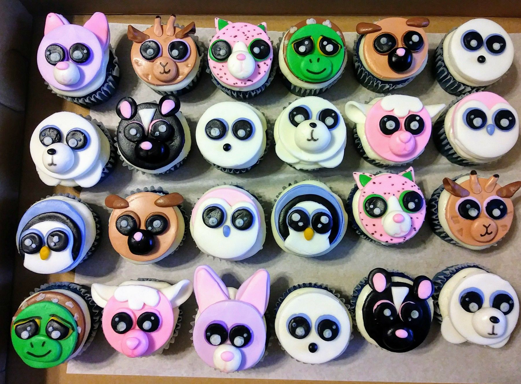 2eb601773a7 Beanie boo cupcakes with fondant faces