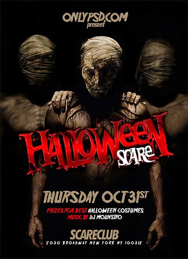 10 Best Free Halloween Flyer Templates http://www.byteswire.com/10 ...