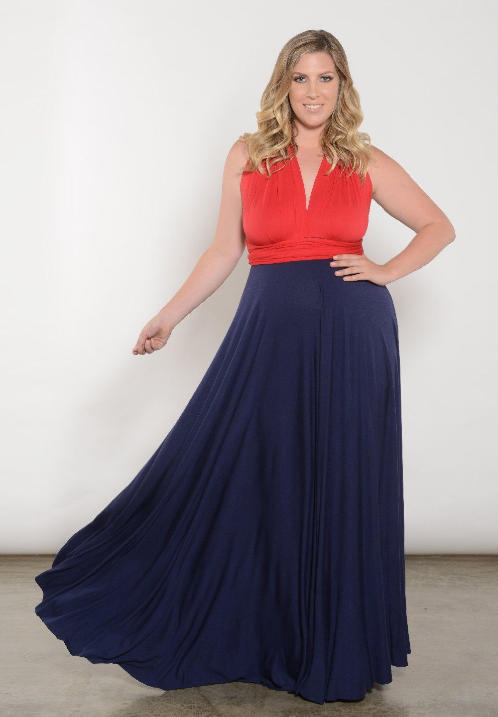 Women S Plus Size Dress Eternity Convertible Duo Maxi Dress In Red And Blue Swak Designs Best Plus Size Dresses Plus Size Dresses Plus Size Maxi Dresses [ 1440 x 1000 Pixel ]