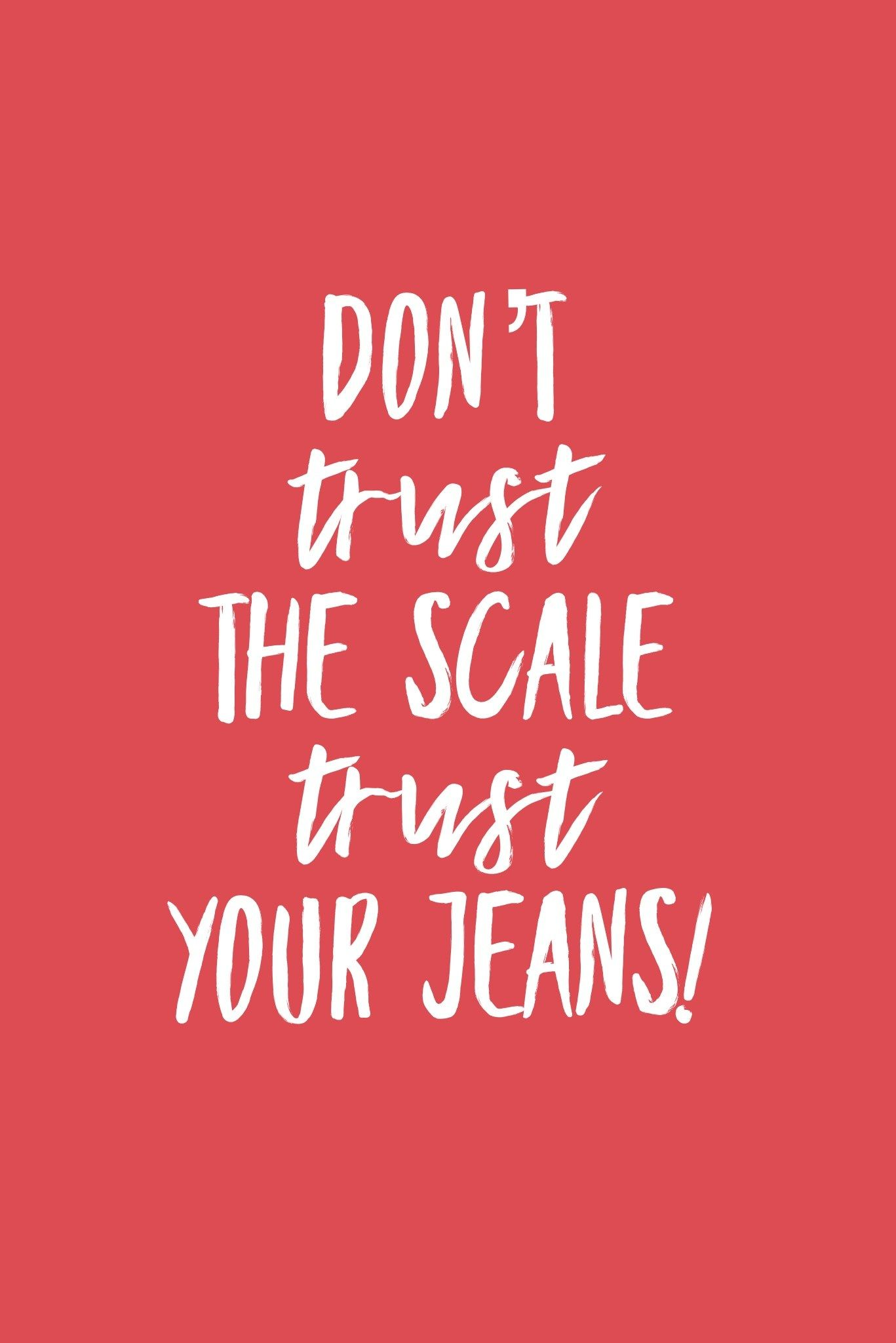 Why I Don't Watch the Scale! -