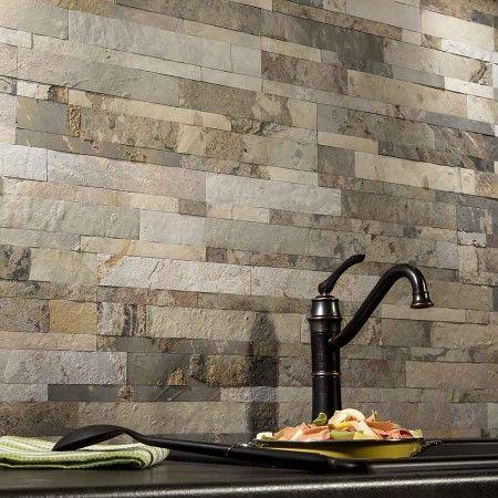 Aspect Backsplash Stone Tile In Medley Slate Home
