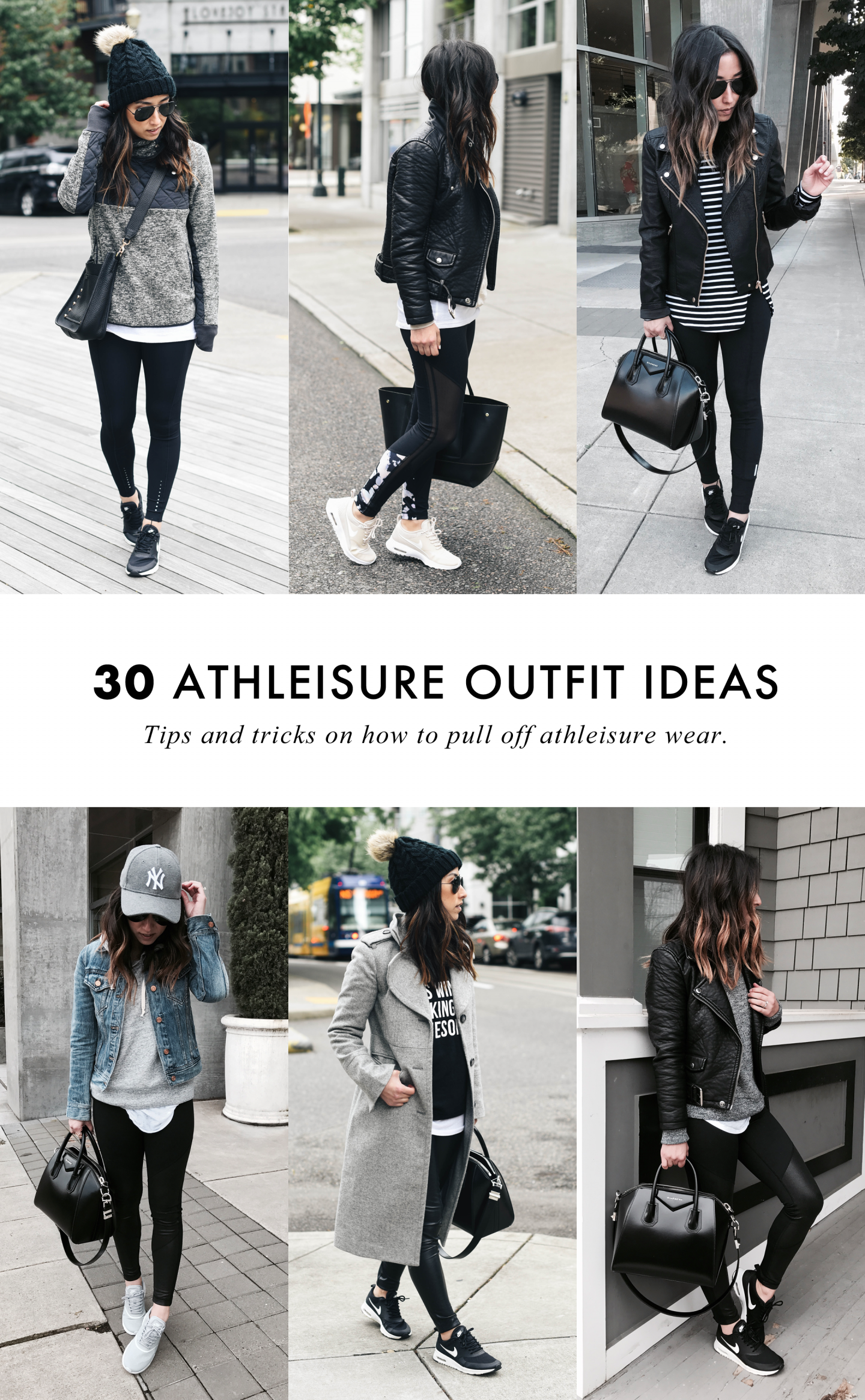 How To Pull Off Athleisure Wear + 30 Outfit Ideas #howtowear